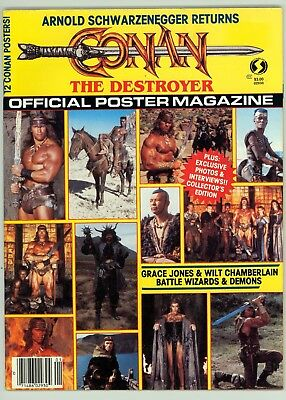 Conan the Destroyer Official Poster Magazine (1992) #1 FN+