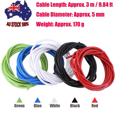 3M/9.84FT Φ5MM Bicycle Brake Cable Housing Cable Hose Kit for Road MTB Bike 1PCS