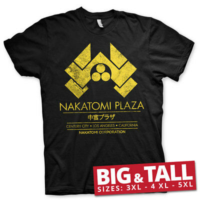 Officially Licensed Die Hard - Nakatomi Plaza BIG & TALL Men's T-Shirt