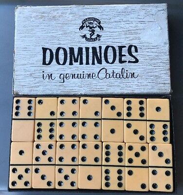 Catalin Genuine Dominoes  In Original Box