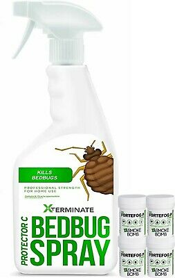 Bed Bug Killer Pack for 2 Bedrooms Control Kill Bed Bugs Treatment Home Use