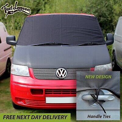 VW T5 Black Out Window Screen Cover camping Blind windscreen FREE STEP MATS!
