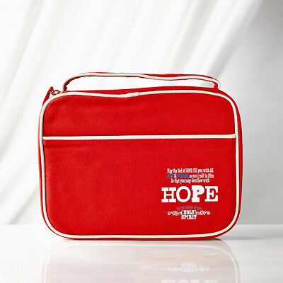 Hope Romans 15:13 Retro Blessings Red Bible Cover. FREE DELIVERY