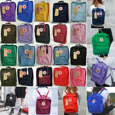 Women & Men Fjallraven Kanken Travel Backpack Work Shoulder School Bags Rucksack