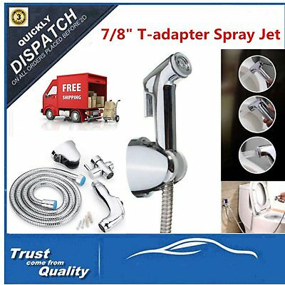 Bathroom Toilet Handheld Bidet Shower Spray Shattaf Kit with SprayHose Holder UG