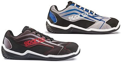 Sparco Touring grey/black or black/red S1P breathable safety trainer shoe
