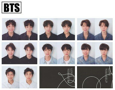 7pcs BTS FAKE LOVE YOURSELF Photo Cards R Version Self Made Signature Photocard