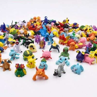 POKEMON STYLE MINI FIGURES 24 PCS inc 1 PIKACHU CAKE TOPPERS UK SELLER