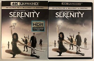 Serenity 4K Ultra Hd Blu Ray 2 Disc Set + Slipcover Sleeve Free World Shipping