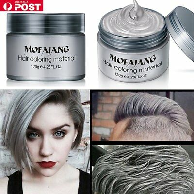 Silver Grey Hair Pomade Professional Hair Wax Natural Hairstyle for Men WomPbqw