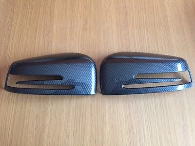 Carbon Wing Mirror Covers Fits Mercedes Benz C Class W204 2008-2014 C63 Amg