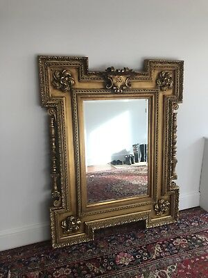 HUGE Extra Large gold gilt French antique style Wall mirror! REDUCED!
