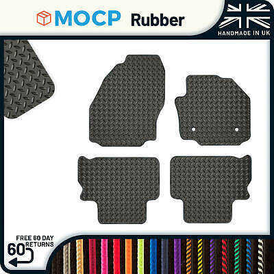 Custom Rubber Car Mats to fit Ford S-Max 5 Seater 2 Clips 2011-2015