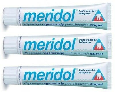 3 x 75ML  Meridol Toothpaste. The best for your gums.