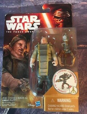 The Force Awakens Desert Mission Unkar Plutt 3.75 In SAME-DAY SHIP Star Wars