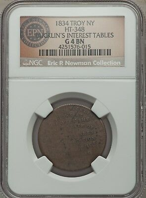 1834 Troy, NY Bucklin's Interest Tables, Low-77, HT-348, R.5, G 4  ex. Newman