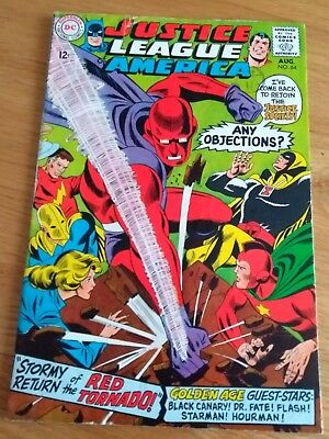 Justice League of America #64 mid  grade 1st SA Red Tornado