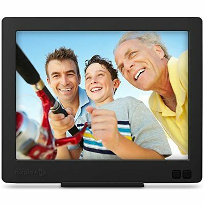 Nixplay Edge 8 Inch Wi Fi Cloud Digital Photo Frame With Hi Res