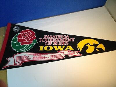 Iowa Hawkeyes Pennants including Rose Bowl,l and Holiday Bowl 80's