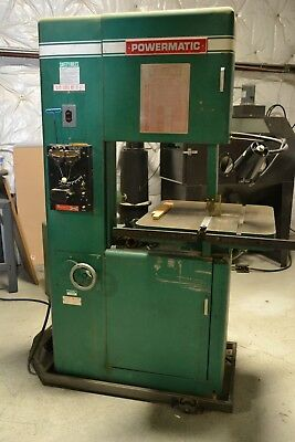 "Powermatic Model 87 Bandsaw Vertical 20"", 2 Speed Gear Box 47-470/520-5200 RPM"