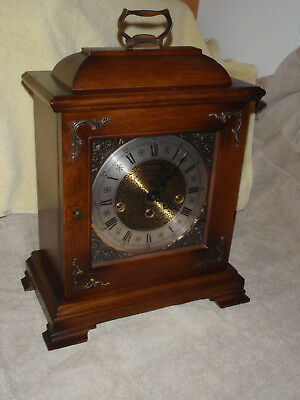 Hamilton Westminster Chime Mantel Clock Franz Hermle 340-020 Beautiful!
