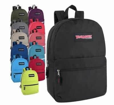 Lot of 24 Wholesale Trailmaker Classic 17 Inch Backpacks in 12 Assorted Colors