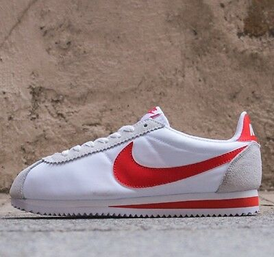 wholesale dealer 67d0d 4ad7a NIKE CORTEZ BASIC Nylon Off White/Red Sneakers Men's Lifestyle Shoes