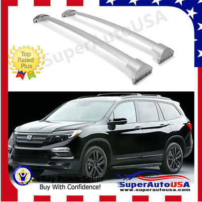 Fit For 2016-2019 Honda Pilot Silver Roof Rack Cross Bars Luggage Cargo Carrier