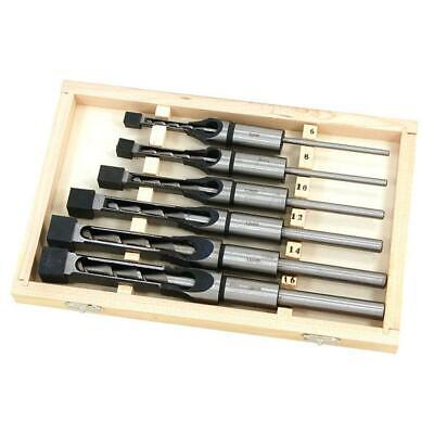 Auger Chisel Set in Case  6 10 13 16 mm - tenon square holes mortising machine