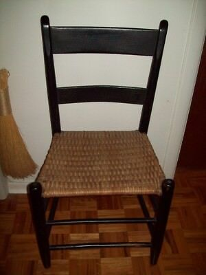 Antique Chair  Original Black Paint