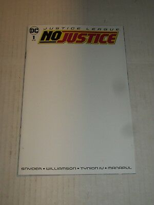 DC Comics JUSTICE LEAGUE NO JUSTICE #1 Blank Cover Variant NM/M