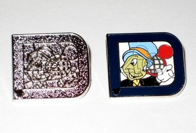 2 Pin JIMINY CRICKET Classic D Hidden Mickey Chaser 2011 Disney 40th Anniversary