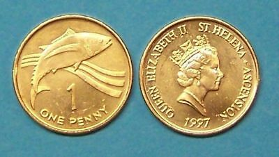ST HELENA & ASCENSION  1997  1 PENNY   UNCIRCULATED COIN  KM13a