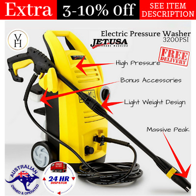 High Pressure Cleaner Washer 3200PSI NEW Electric Hose Washer Spray By Jet-USA