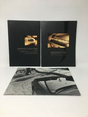 Infiniti 1994 J30 Q45 1996 Full Product Line Sales Brochure Lot Of 3 17-1725