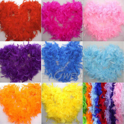 2M Feather Boa Strip Fluffy Craft Costume Dressup Wedding Party Flower Decor LOT