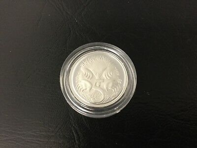 1991 Silver Proof 5 Cent from Masterpieces in Silver set coin in capsule only
