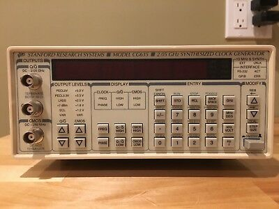 Stanford Research Systems Model CG635 2.05 GHz Synthesized Clock Generator