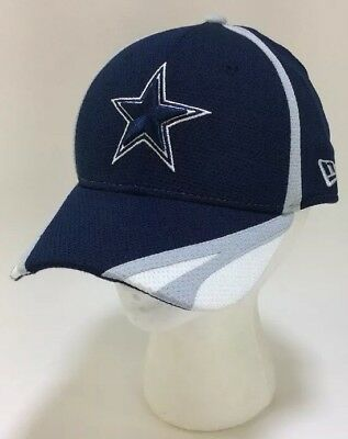 wholesale dealer 49c05 85eb5 NFL Dallas Cowboys New Era 39Thirty Baseball Hat Cap Fitted Small-Medium  Navy