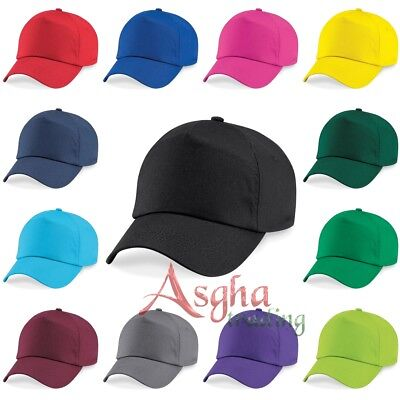 KIDS Cap Beechfield Original 5 Panel Cap Children Baseball Cap Plain 100% Cotton