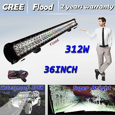 "36""312W Led Light Bar Work Flood Offroad Driving Boat Car Truck Jeep Fog SUV"