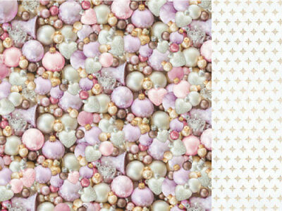 "*A&B*KAISERCRAFT 12""x12"" Scrapbooking Paper Christmas Wishes P2145 Pearlescent"