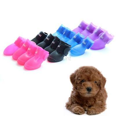 Cute Rain Boots Rubber Foot Protective Waterproof Pet Shoes For Dog Puppy USA