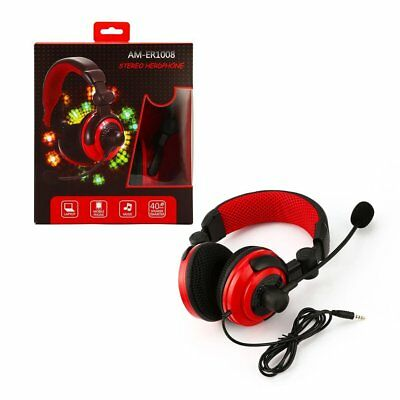 Deluxe Headset Headphone With Microphone For Xbox One & S Ps4 Pc Mac Tablets As