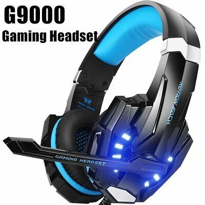 Gaming Headset with Mic for PC,PS4, LED Light KOTION EACH G9000 Lot AZ