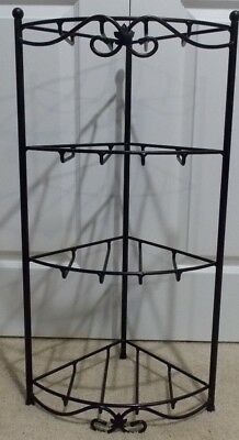 Longaberger Wrough Iron Stand Corner Shelf
