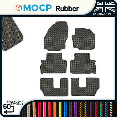 Custom Rubber Car Mats to fit Ford S-Max 7 Seater 2 Clips 2011-2015