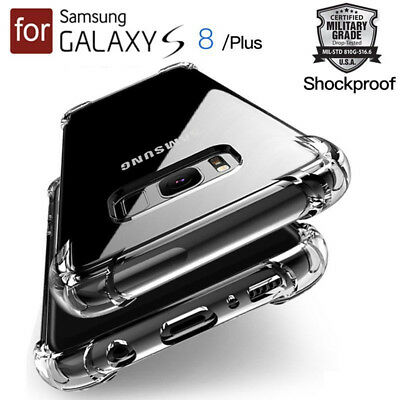 TPU Crystal clear 360°Soft Ultra thin Case Cover For Samsung Galaxy S8 +/iPhoneX