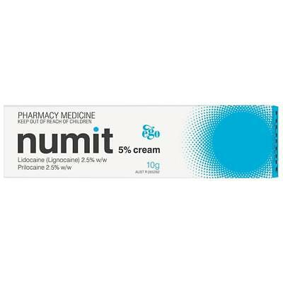 Brand New Ego NUMIT 5% Anaethetic Cream 10g or 30g - FREE POST