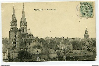 CPA - Carte postale -France - Moulins - Panorama - 1906 (CP3435)